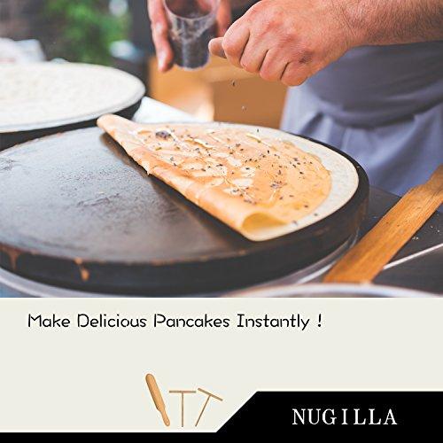 Nugilla Original Crepe Spreader and Spatula Set – 3 Pieces 10-inch Spatula | 4.7-inch Spreaders – Premium Beechwood for Crepe Pan Maker/Breakfast Pancakes by Nugilla (Image #4)
