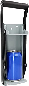 Qulable 16oz Aluminum Can Crusher and Bottle Opener, Heavy Duty Metal Wall Mounted Soda Beer Smasher Eco-Friendly Recycling Tool