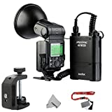 Godox AD360II Witstro Bare Bulb Flash Unit Speedlight HSS I-TTTL GN80 360Ws Built-in 2.4GHz Radio Transceiver for Nikon D810 D800E D750 D7100 DSLR Cameras + 4500mAh PB960 Lithium Battery Pack Black