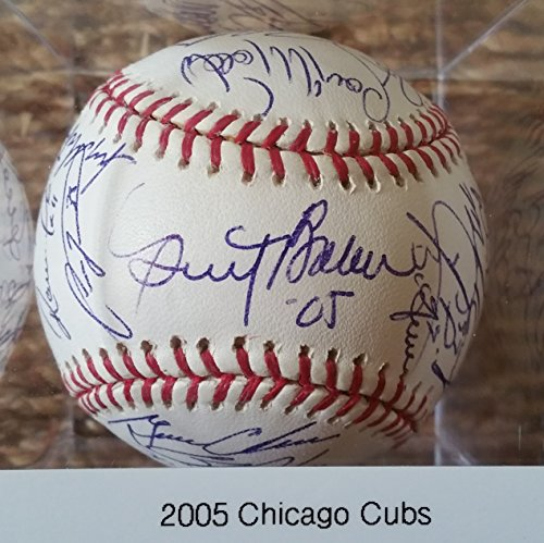 (2005 Chicago Cubs Team Signed Autographed Official Major League OML Baseball w/Derrek Lee, Mark Prior, Nomar Garciaparra, Carlos Zambrano, Dusty Baker- COA Matching Holograms)