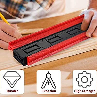 Contour Measuring Instrument Perfect Plastic Ruler for Corners Woodworking Templates Tiles and Laminates DIY Handcraft Enthusiasts Essential Tool C