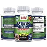 Premium Sleep Aid-Melatonin-5HTP-Ashwagandha-Magnesium-Chamomile, Valerian-Root Fall Asleep-Fast-Longer- Best Natural Sleeping Pills Wake Up Refreshed -Relax and Calm Supplement Pills | 60 Capsules