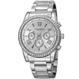 Akribos XXIV Enterprise Mens Casual Watch - Sunburst Effect Dial - Quartz Movement - Diamond - Stainless Steel Strap - Silver