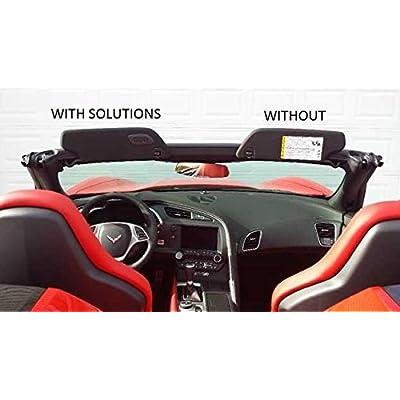 Sunvisor Solutions The Original for 2014-2020 Corvette C7 Cover Overlays - OEM Fabric (Pair): Automotive