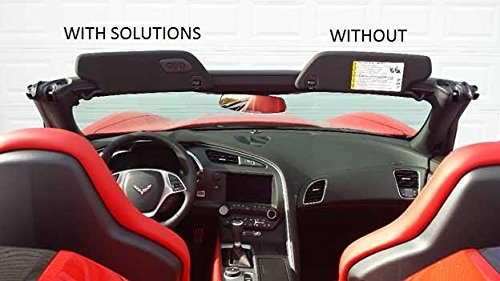 The Original SunVisor Solutions for 2014-2017 Corvette C7 Cover Overlays - OEM Fabric (Pair)