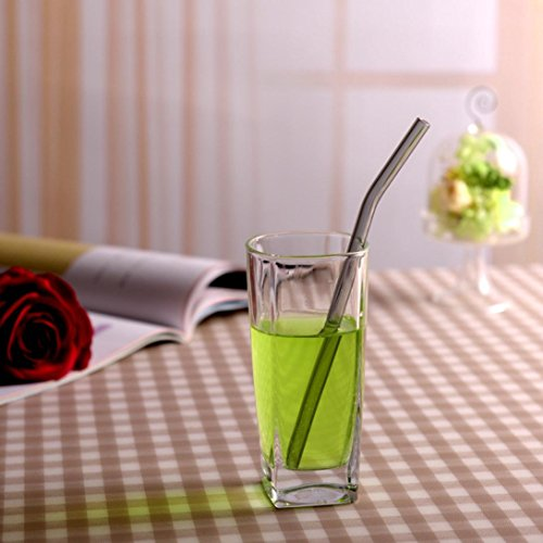 Feccile 7Pcs Reusable Glass Straws for Drinking by Feccile Kitchen (Image #3)