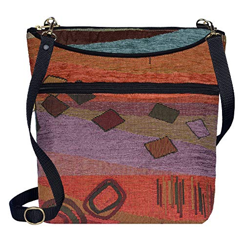Danny K Women's Tapestry Bag Crossbody Handbag, Maggie Purse Handmade in the USA (Wild Mango)
