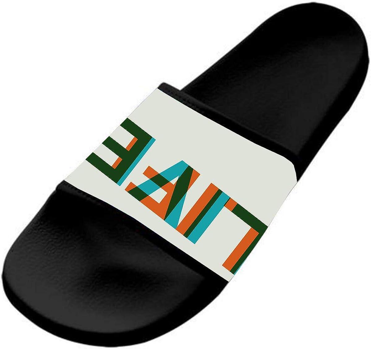 Amazon.com | ONEDOUBLE Live Life Men's Athletic Slide Sandals Lightweight  Comfort Slip On Sport Slippers | Sport Sandals & Slides