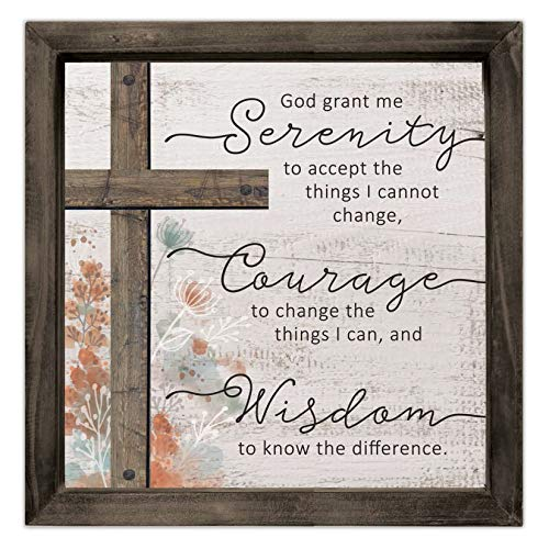 Cathedral Art Layered Wood Plaque - Serenity Prayer, One Size, Multicolored ()