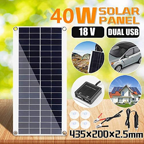 Zhang 40W 18V Solar Panel Dual USB Output-Solarzellen Poly Solar Panel Monokristallinem Silizium Außen DIY Für Auto Yacht Batterie-Boot