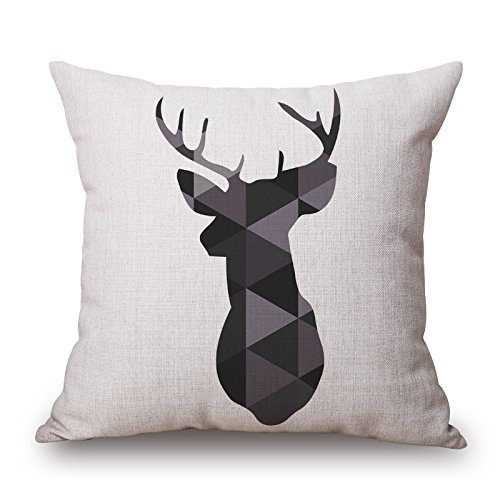 Slimmingpiggy Deer Pillowcover ,best For Christmas,bench,divan,monther,club,deck Chair 18 X 18 Inches / 45 By 45 Cm(twice Sides)