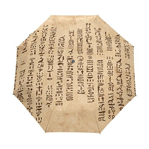 Wind Goddess Costume (Egyptian Decor Lightweight UPF 50+ Anti-UV Parasol Waterproof Windproof 3 Folds Auto Open Close Umbrella)