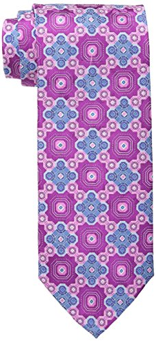 Geoffrey Beene Print Tie - Geoffrey Beene Men's Big-Tall At All Hours Neat Tie, Pink, X-Large