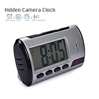 Spy Camera Hidden Camera Clock With Motion Detect Remote Control Nanny Camera For Home