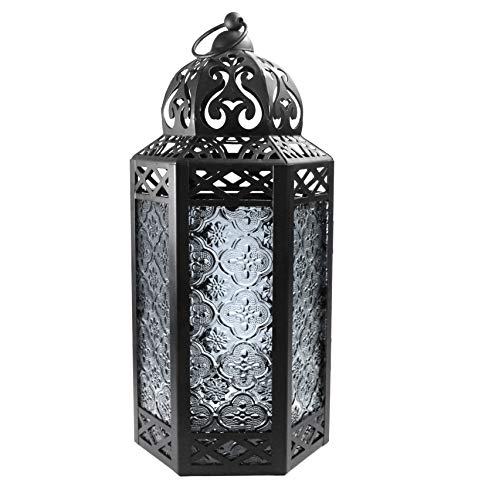 Large Moroccan Candle Lantern with Clear Glass