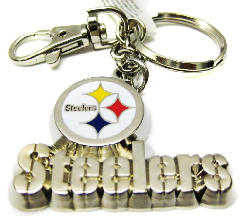 Silver Metal Pittsburgh Steelers Keychain at Steeler Mania