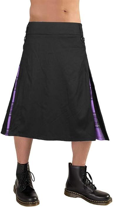 Puimentiua Falda Escocesa para Hombre Kilt Tradicional Escocés ...
