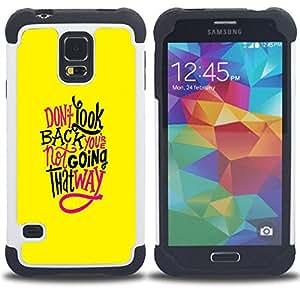King Case - yellow funky text inspiring message - Cubierta de la caja protectora completa h???¡¯???€????€?????brido Body Armor Protecci?&f