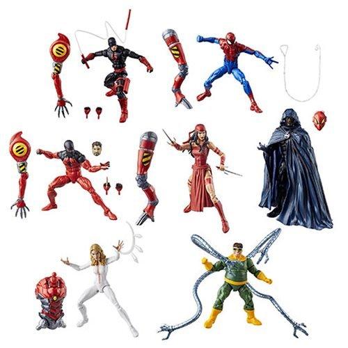 Amazing Spider-Man Marvel Legends Wave 8 Action Figures Set of 7 (SP//dr -