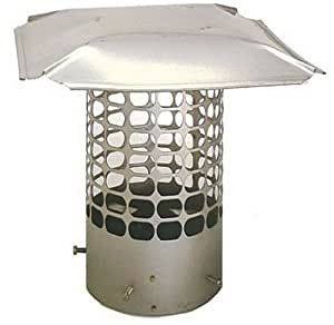The Forever Cap CCSS6RM 6-Inch Stainless Steel Masonry Round Chimney Cap