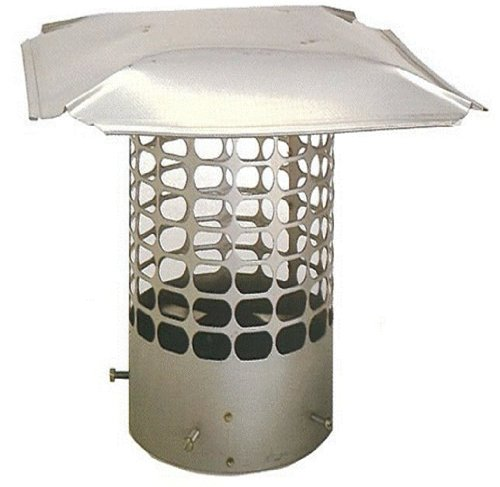 The Forever Cap CCSS6RM 6-Inch Stainless Steel Masonry Round Chimney Cap (Double Chimney Cap compare prices)