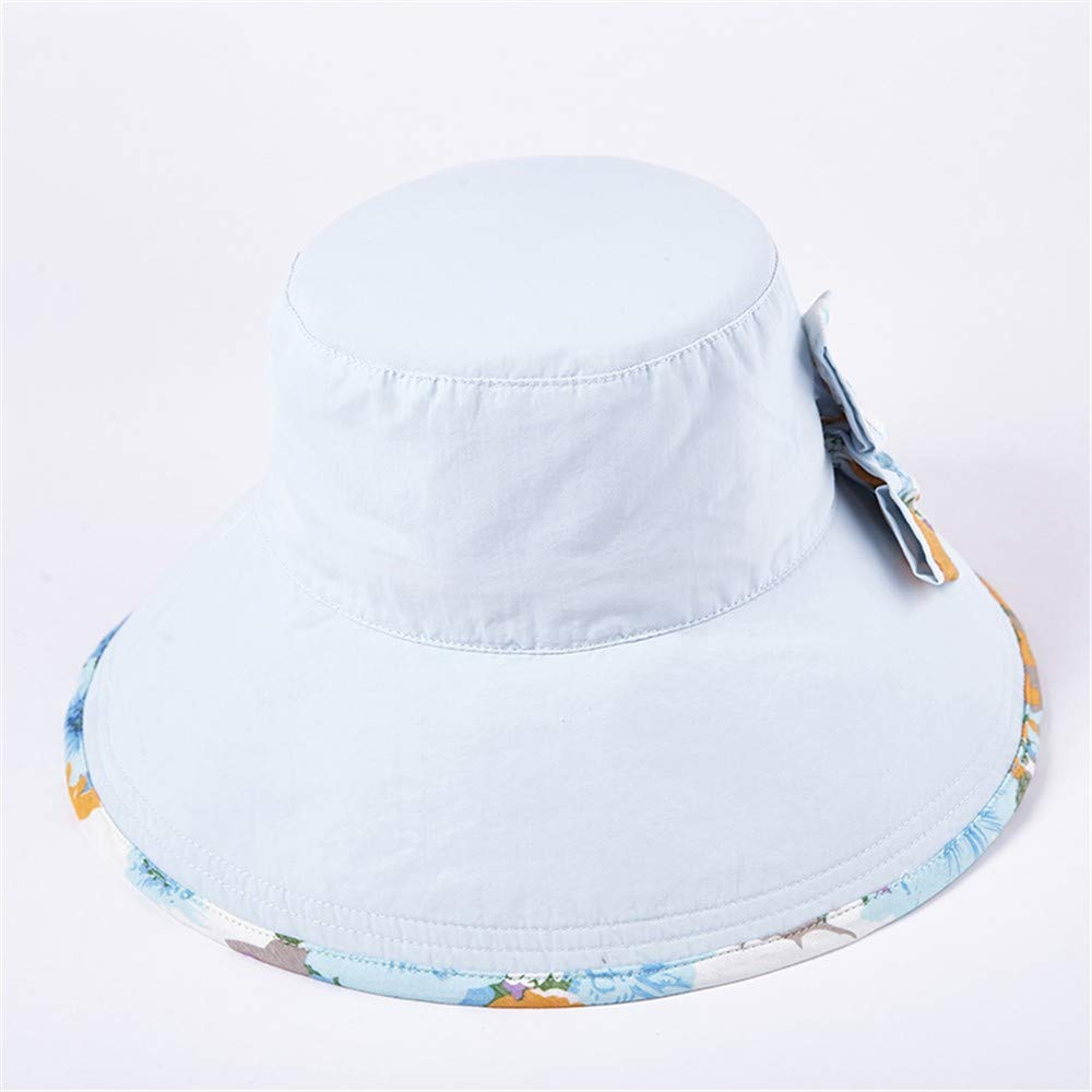 A Ladies Sun Hat Beach Hats,Sun hat Female Sunscreen Summer Getaway Seaside Large Edge Eaves Casual Folding Windproof Shade Basin Hat Beach hat