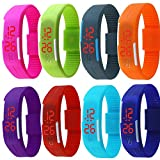 Outdoor LED Sports Watch Silicone Band Touch Screen Red Light Wholesale Price (8 Pack)