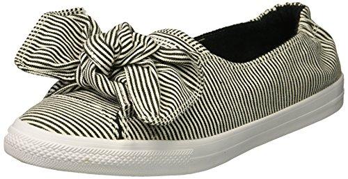 Converse Women's Knot Striped Chambray Slip On Sneaker Black/White, 6 M ()