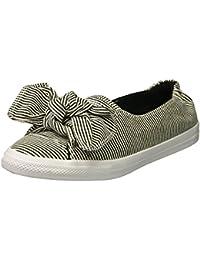 Women's Knot Striped Chambray Slip on Sneaker