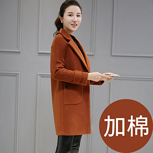 Decoration Jacket Long Ni And Winter Autumn Colour Jacket With This Female caramel Xuanku Coats qFSp0Pw