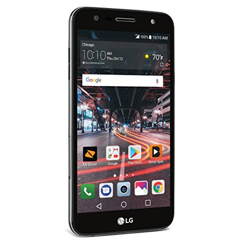 Boost Mobile Lg X Charge   Prepaid Carrier Locked   5 5  Screen   16Gb   Titan Black  U S  Warranty