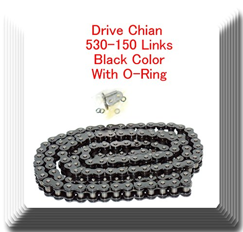 530 x 150 Links (With O-Ring) Motorcycle Chain for Extended Swingarm Black ()