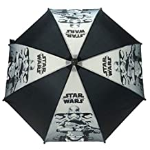 Officially Licensed Children's Star Wars Stormtrooper Black Stick Umbrella