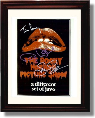 Rocky Horror Characters (Framed Cast of Rocky Horror Picture Show Autograph Replica Print - Rocky Horror Picture)
