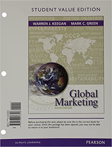 Global marketing student value edition 8th edition warren j global marketing student value edition 8th edition 8th edition by warren j keegan fandeluxe Images