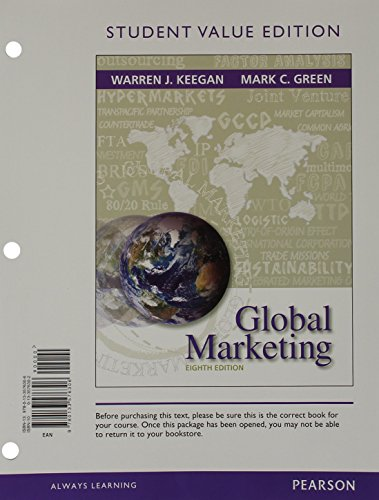 Global Marketing, Student Value Edition (8th Edition)