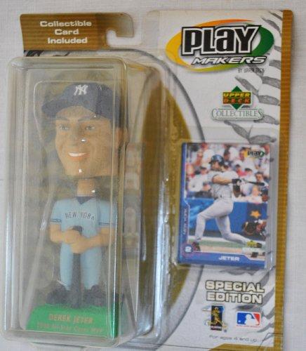 New York Yankees star Derek Jeter #2 official MLB Upper Deck Playmakers Bobble card set Bobblehead by upper deck