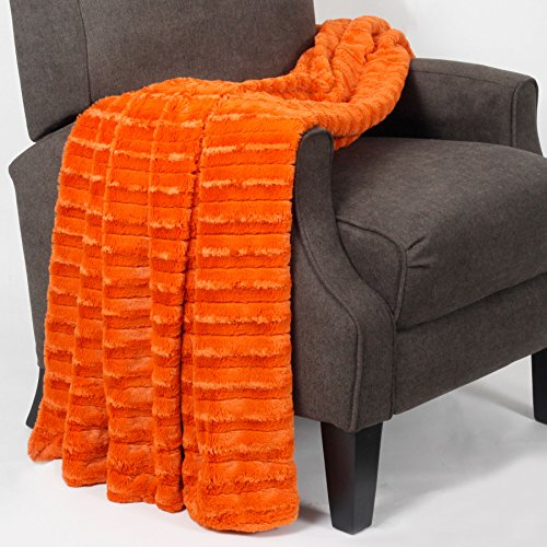 (Home Soft Things Boon Derby Double Sided Faux Fur Throw, 60