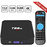 Android 7.1 TV Box, Superpow T95M Smart Internet TV Box with 2GB RAM 16GB ROM, Amlogic S905X Quad Core 64 Bit WiFi Support 4K Full HD