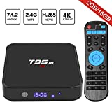 Android 7.1 TV Box, HAOSIHD T95M Smart Internet TV Box with 2GB RAM 16GB ROM, Amlogic S905X Quad Core 64 Bit WiFi Support 4K Full HD