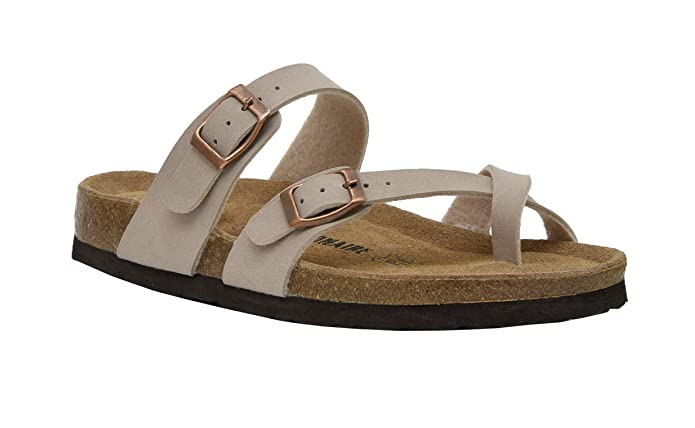 Cushionaire Women's Luna Cork Footbed Sandal With +Comfort by Cushionaire