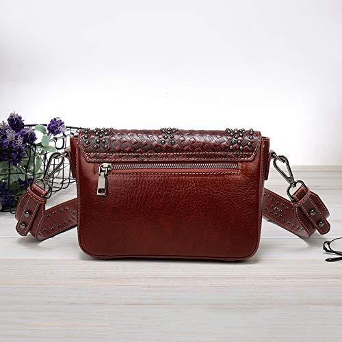 Rivet Femme 17cm Vintage Et Jhkj Pour D'épaule Red Bandoulière À Large Minimaliste 26 Sac Pochette Marron 8 Élégant nzRxxqPZ