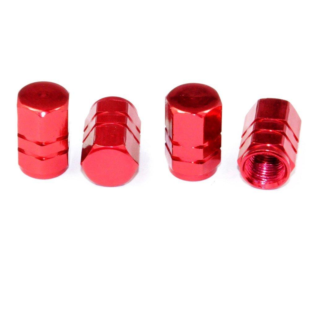 Cutequeen Red Tire Air Valve Caps Fit All Schrader valve(Pack of 4) JIANXIN JIANXIN-01-01-08-000