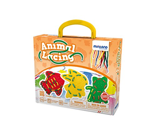 Miniland Animal Lacing Learning Set