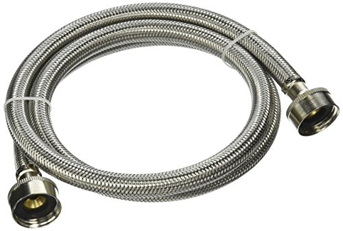Plumb Pak PP23821 Washing Machine Hose, 3/4 in X 4 Ft, Fht, Stainless Steel, 48