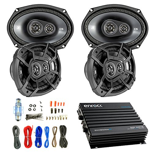 Car Speaker And Amp Combo: 4x Kicker 43CSC6934 900-Watt 6