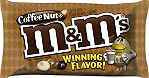 M&M'S Coffee Nut Peanut Chocolate Candy WINNING Flavor 10.20 Ounce Bag
