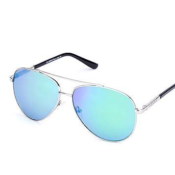 QZHE Gafas de sol Hombres Gafas De Sol Piloto Oval Marco De ...