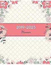 "2019-2023 Planner: Pretty Pink Floral Cover, Monthly Schedule Organizer, 60 Months Calendar Planner Agenda with Holidays 8"" x 10"""