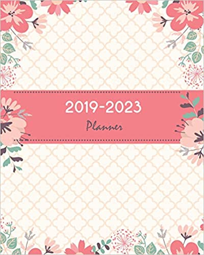 Amazon.com: 2019-2023 Planner: Pretty Pink Floral Cover ...